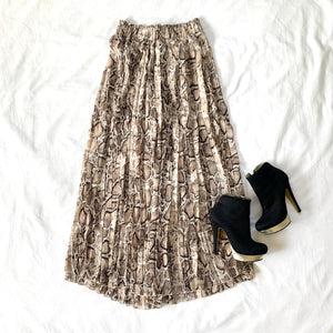 DREAM ON - SNAKE PLEATED PANT SKIRT
