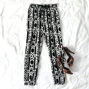 WE ARE THE CHAMPIONS - AZTEC PRINT JOGGERS