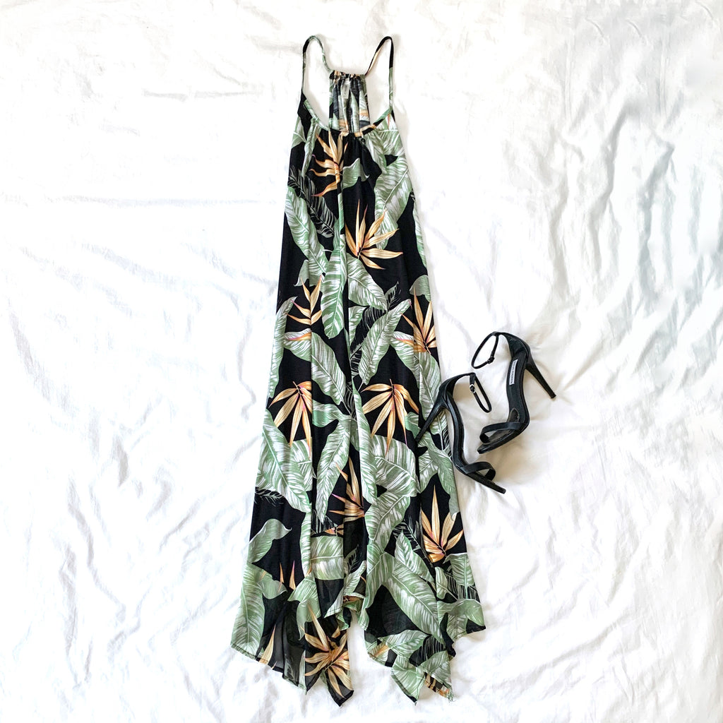TROPICAL BLISS - FLOWY TANK DRESS