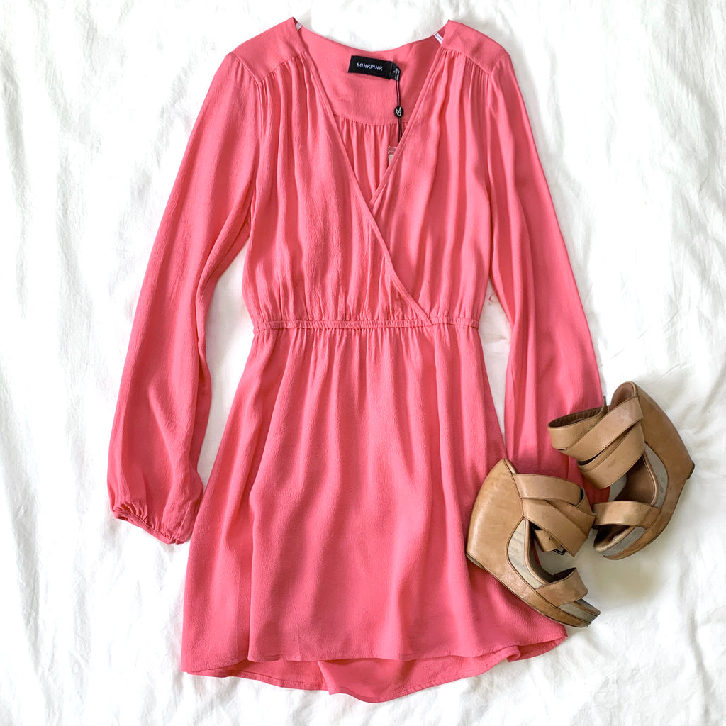 THE FUTURE'S BRIGHT - PINK LONG SLEEVE DRESS