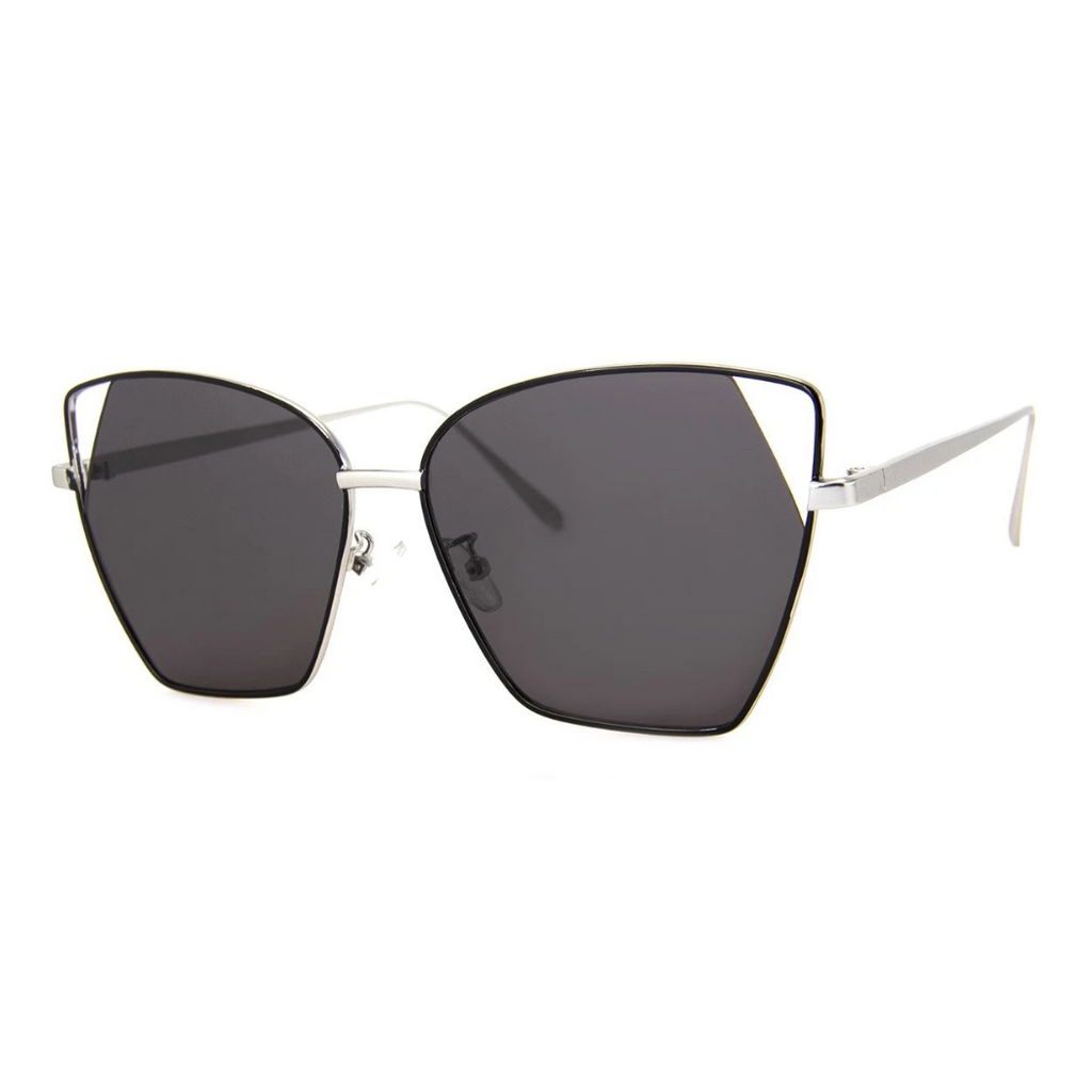BLACK WIRE ANGLE CATEYE SUNGLASSES