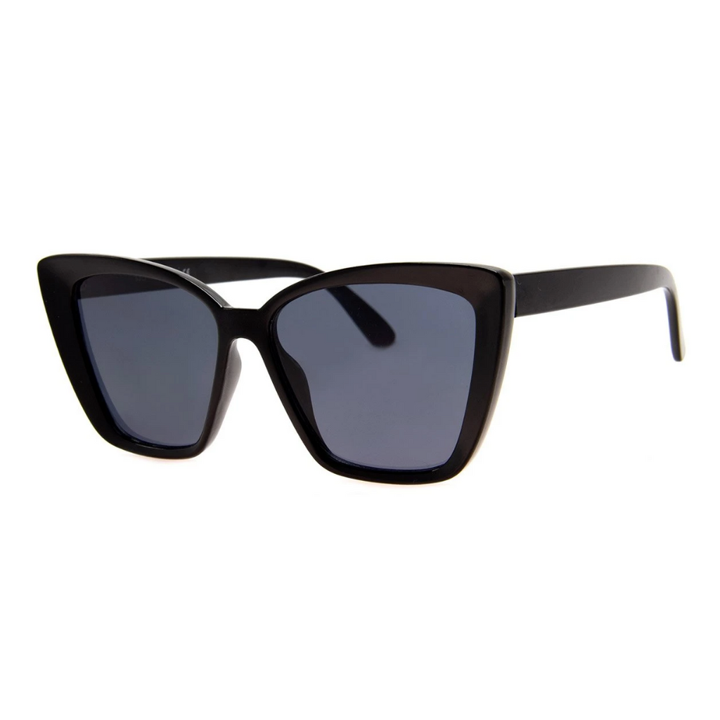 VINTAGE INSPIRED BLACK POINT CATEYE SUNGLASSES