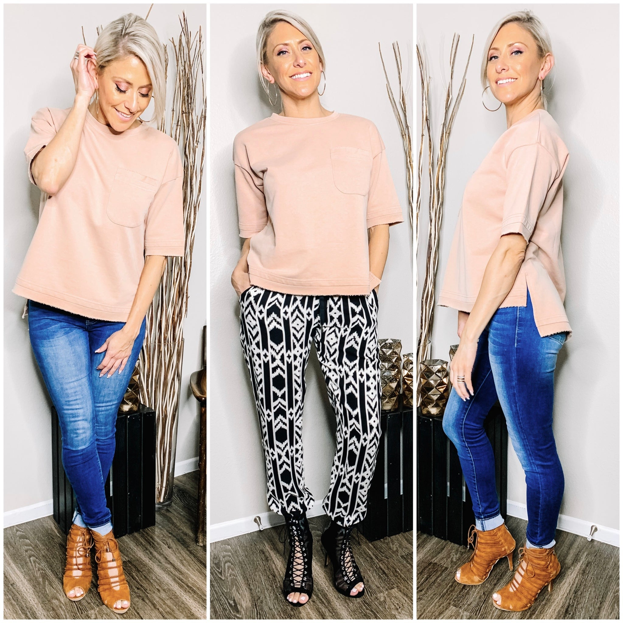 ALL YOU NEED IS LOVE - MAUVE TERRY TOP