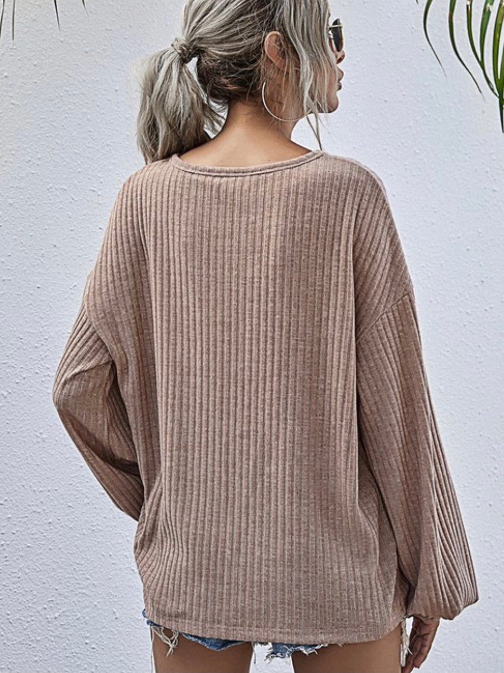 BEAUTIFUL LIFE - SUPER SOFT BLUSH BELL SLEEVE TOP