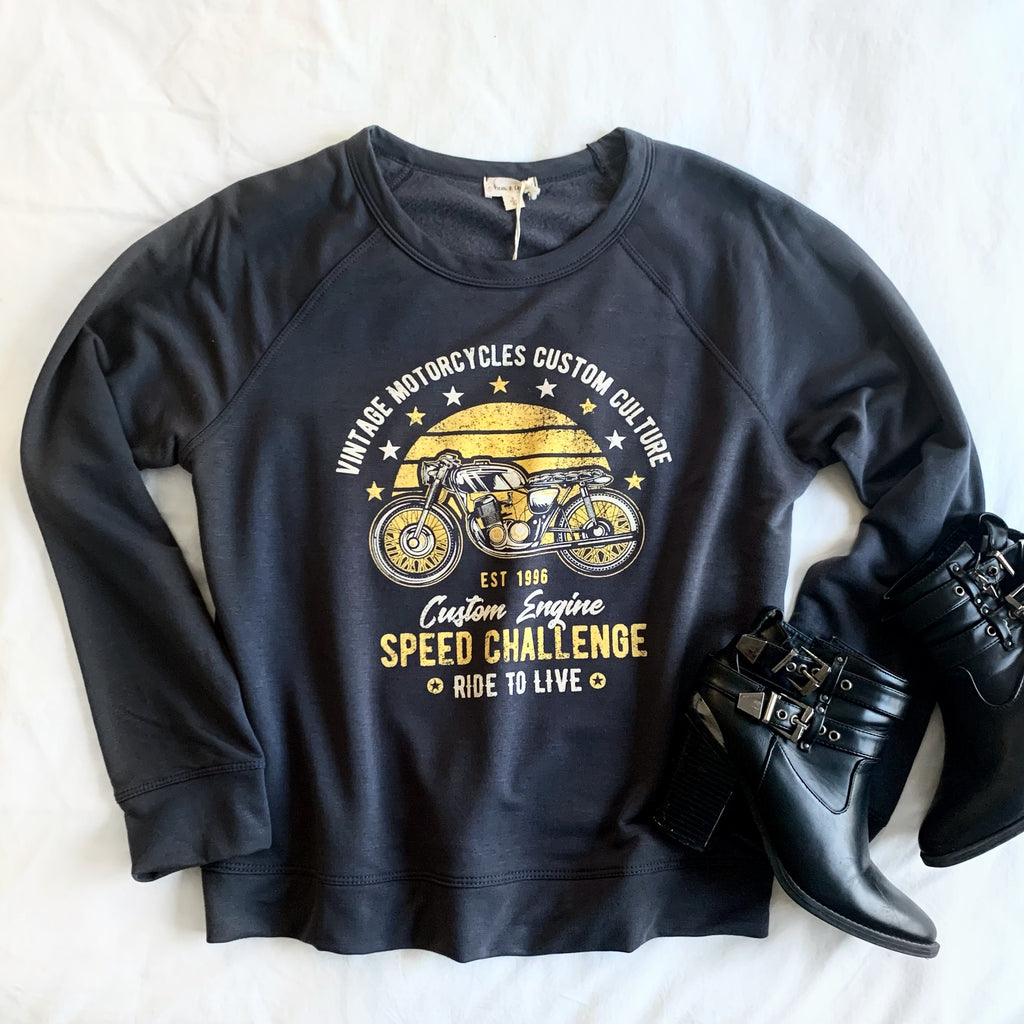 FOLLOW ME TO THE END - SOFT MOTORCYCLE SWEATSHIRT