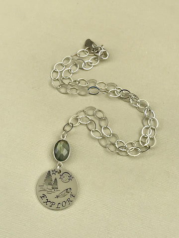 Sterling Silver Explore Totem Necklace