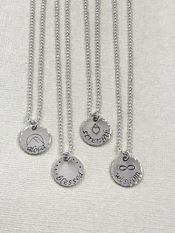 Sterling Silver Inspiration Necklaces