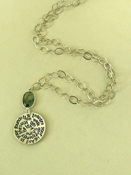 Sterling Silver Inspire Totem Necklace