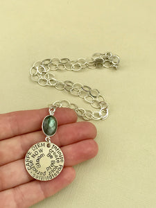 Sterling Silver Infinite Totem Necklace