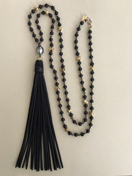 Tahitian Pearl Midnight Sea Necklace