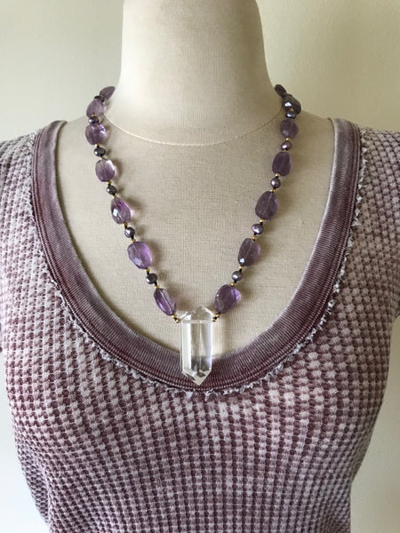 Purple Sea Amethyst Necklace
