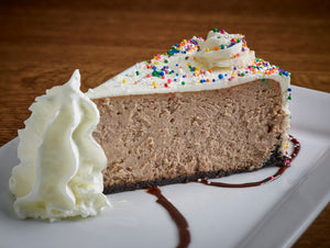 Birthday Cake Cheesecake |  slice