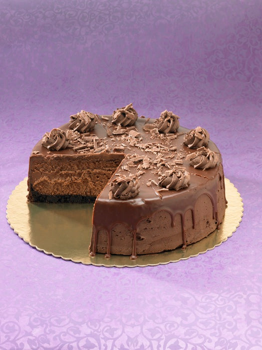 Callebaut Chocolate Cheesecake |  slice