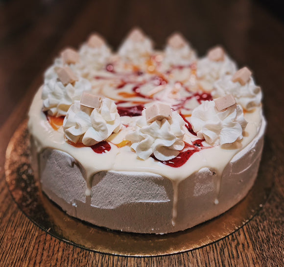 White Chocolate Orange Cranberry Cheesecake |  slice