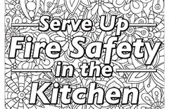 Fire Safety Colouring Sheet 2