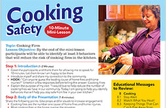 Fire Safety Adult Cooking Lesson