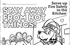 Fire Safety Colouring Sheet