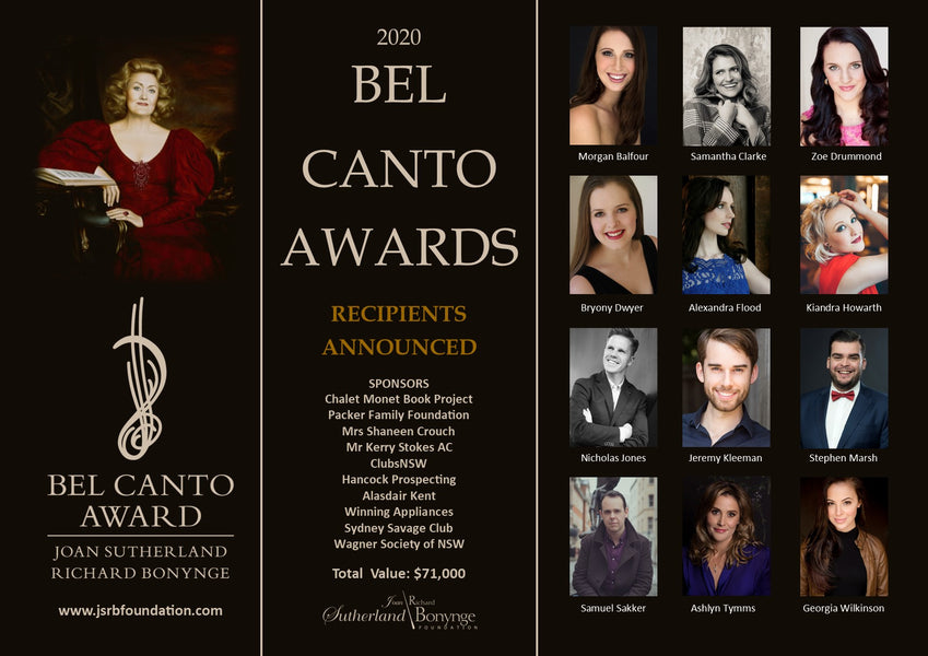 2020 Bel Canto Award Recipients Announced
