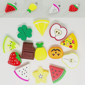 Cute Fruit Phone USB cable protector for iphone