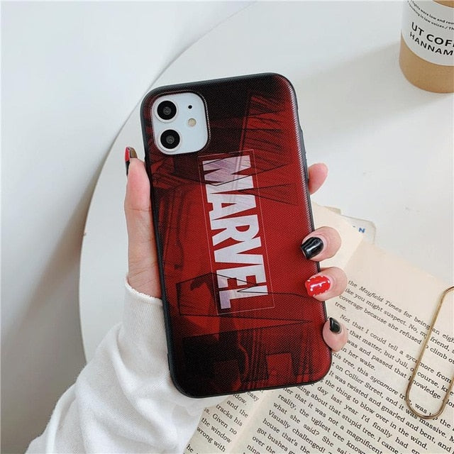 Marvel case for iphone 11 pro x xs max xr 8 7 6 6s plus SE