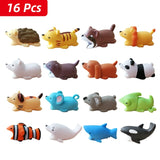 Cable Protector Cute Animals (16pcs)