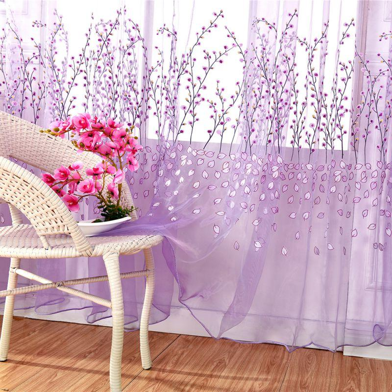 Window Sheer Voile Tulle Curtain