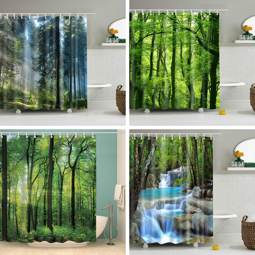 3d green Shower Curtain