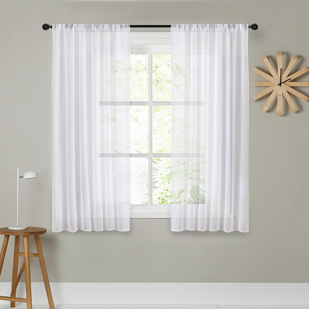 DIY Short Curtains For Kitchen