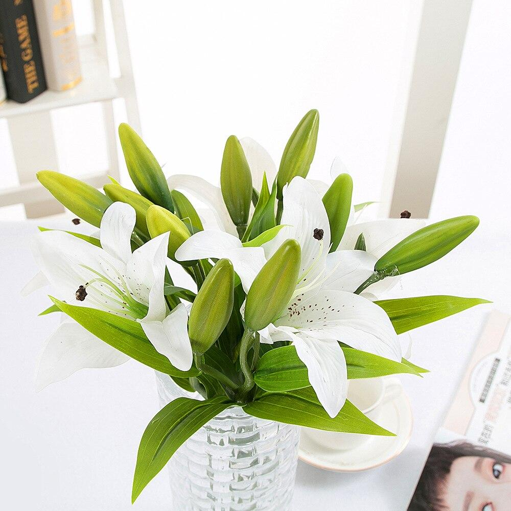Real Touch Artificial lily Flores