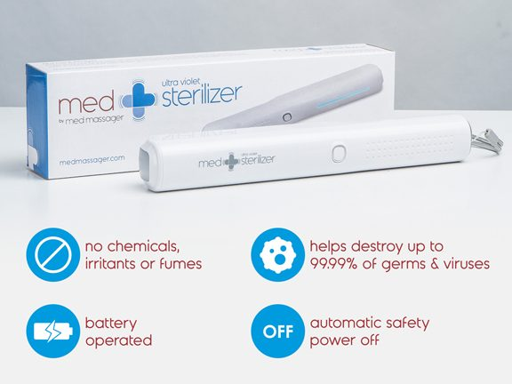 MedMassager Unveils MedSterilizer That Uses UV-C Light to Effectively Sanitize Surfaces and Your Home Chemical-Free