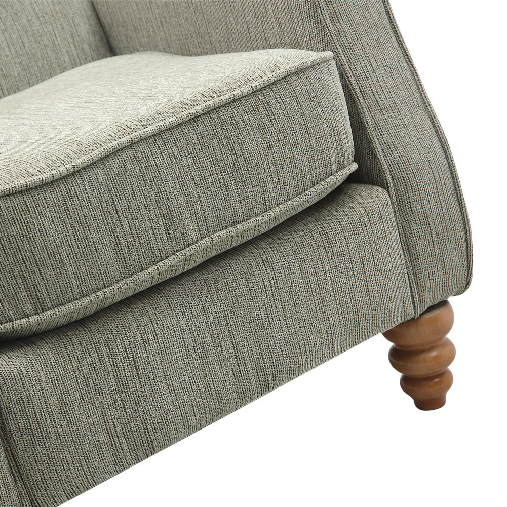 Chenille Fireside Armchair Occasional Chair Accent Lounge Armchair Upholstered Seater
