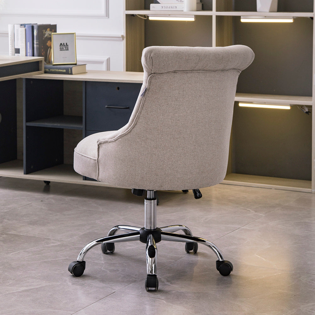 Ergonomic Office Buttoned Chair Swivel Lifting Desk Armchair Computer Seat