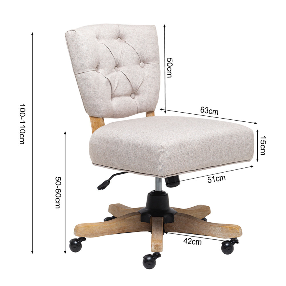 Adjustable Swivel Cushioned Office Computer Desk Salon Barber Chair