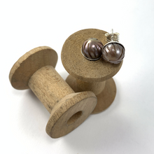 Load image into Gallery viewer, Handcarved Pearl Studs