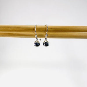 Capped Pearl Drop Earrings