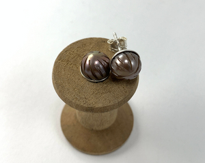 Handcarved Pearl Studs