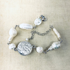 Button and Pearl Bracelet