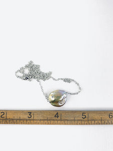 Gem Stud Pearl Slide Necklace