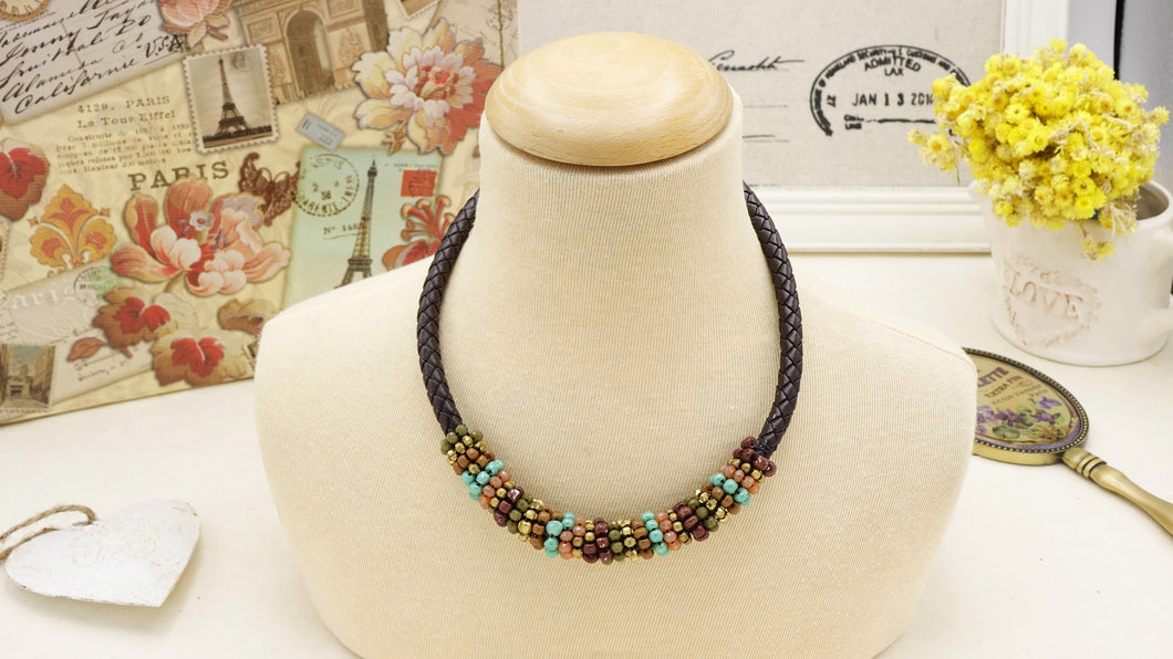 Ancient Goddess Chic Beaded Necklace - Verna Artisan Works