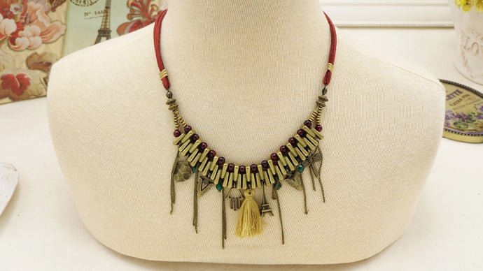 Boho Chic Suede Necklace - Verna Artisan Works