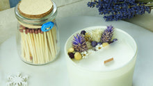 Load image into Gallery viewer, Aromatherapy Soy Candle with a with a Jar of Matches - Lavender - Verna Artisan Works