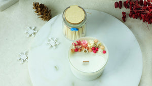 Aromatherapy Soy Candle with a with a Jar of Matches - Verna Artisan Works