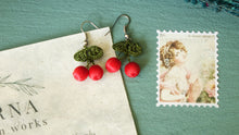 Load image into Gallery viewer, Needle Lace Cherry Earring - Verna Artisan Works