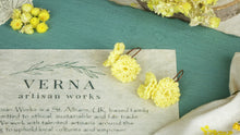 Load image into Gallery viewer, Divine Goddess Immortelle Flower Earrings - Verna Artisan Works
