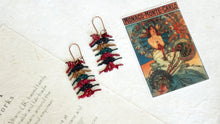 Load image into Gallery viewer, Needle Lace Earrings - Mulberry Vibes - Verna Artisan Works