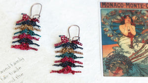 Needle Lace Earrings - Mulberry Vibes - Verna Artisan Works