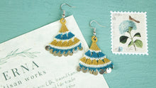 Load image into Gallery viewer, Floral Needle Lace Earrings - Various Colors - Verna Artisan Works