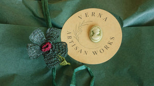 Needle Lace Flower Scarf - Verna Artisan Works