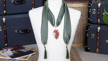 Load image into Gallery viewer, eedle Lace Flower Scarf - Verna Artisan Works