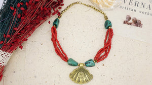 Ancient Goddess Necklace - Venus Rising - Verna Artisan Works